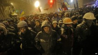 Image of nationalists and pro-Euro activists in Kiev in early December