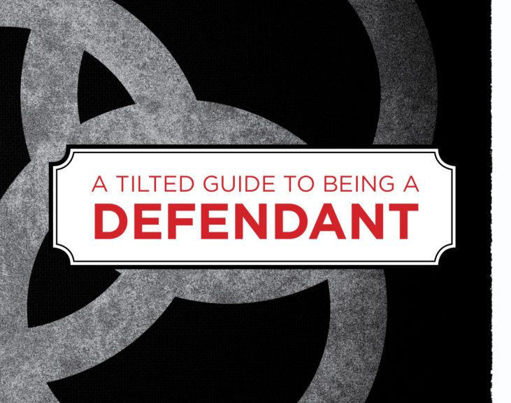 """Book cover of """"A Tilted Guide To Being A Defendant"""""""