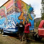 Mayuk Manuel and Kanahus Freedom in front of tiny house