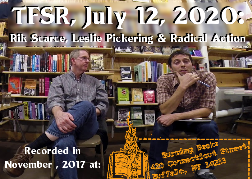 Rik Scarce and Leslie Pickering from the discussion in 2017