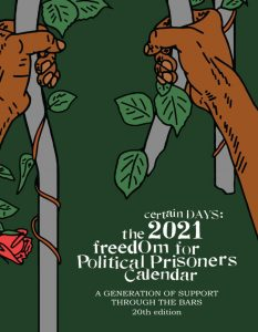 2021 Certain Days: Freedom For Political Prisoners Calendar cover
