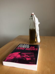 """Class Power On Zero Hours"" book and a molotov, classy"