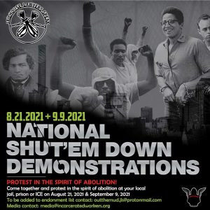 Flyer announcing National Shut'Em Down Demonstrations